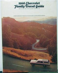 1968 Chevrolet Dealer Family Travel Guide Brochure Information Tips Maps Atlas
