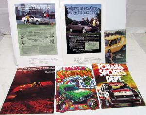 Vintage Collection Automotive Ads Brochures Signed By Ad Writer Dick Wingerson