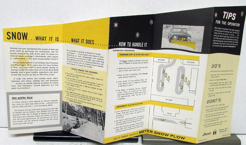 1960-64 IH Scout Meyer Snow Plow Tips International Sales Brochure