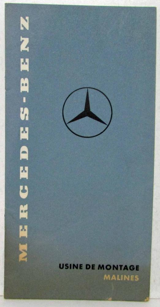 1955 1959 mercedes benz assembly plant malines sales for Mercedes benz text