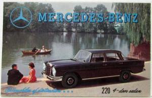 1960 Mercedes Benz Automobiles of Distinction Sales Folder