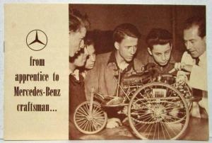 1960 Mercedes Benz From Apprentice to Craftsmen Sales Brochure