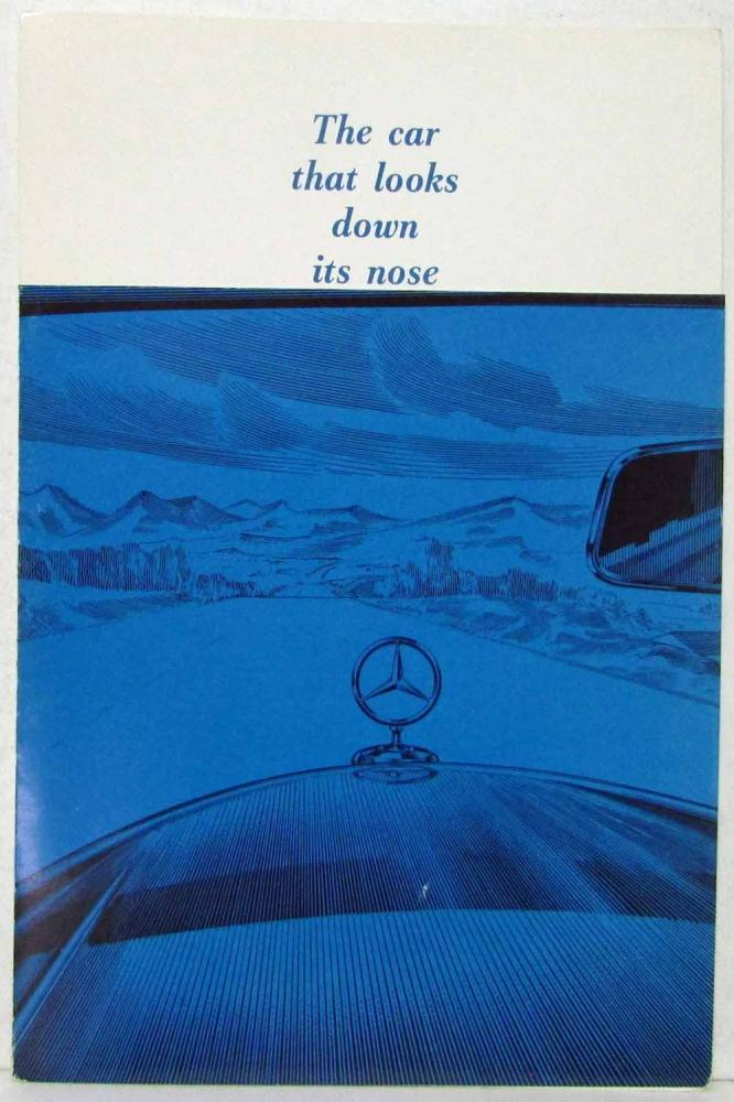 1961 Mercedes Benz The Car That Looks Down Its Nose Sales Brochure