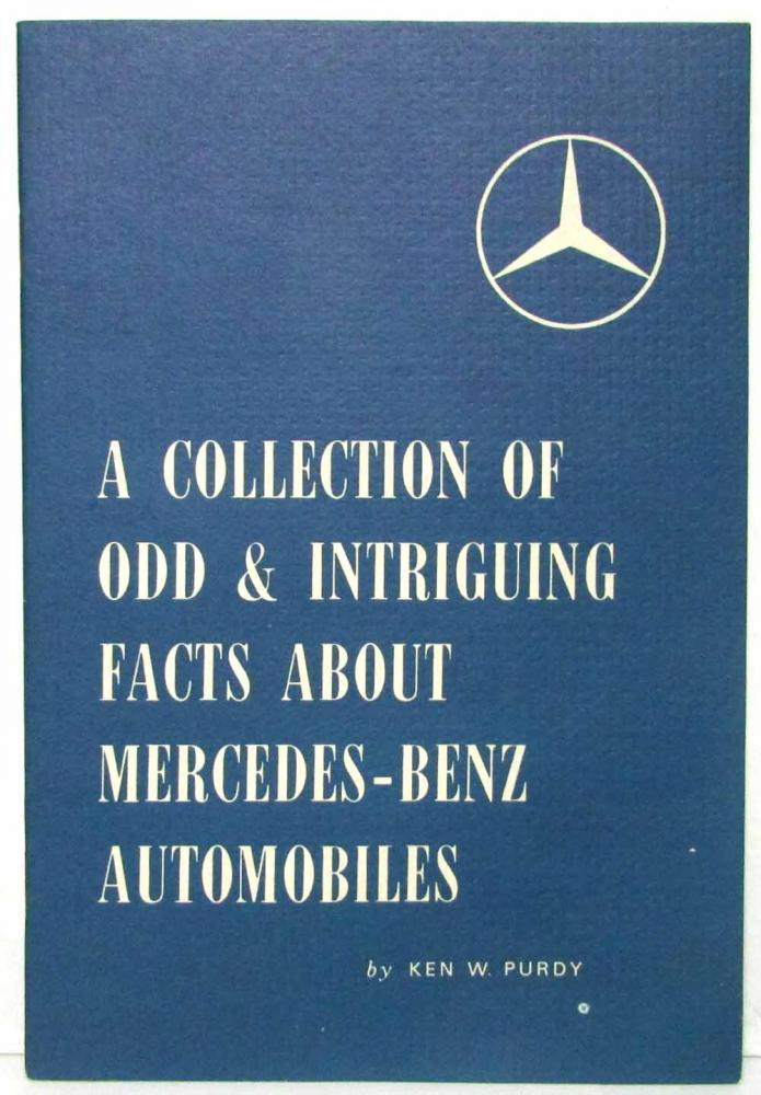 1961 Mercedes Benz Odd & Intriguing Facts Booklet PAM 587