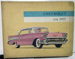 1957 Chevrolet Dealer Album Sales Reference Bel Air 210 150 Corvette Nomad Rare