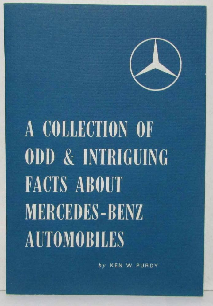1961 Mercedes Benz Odd & Intriguing Facts Booklet PAM 475