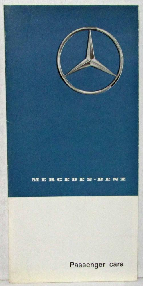 1962 Mercedes Benz Passenger Cars Sales Folder