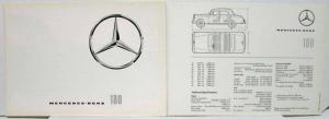 1962 Mercedes Benz 180 Sales Folder with Spec Sheet