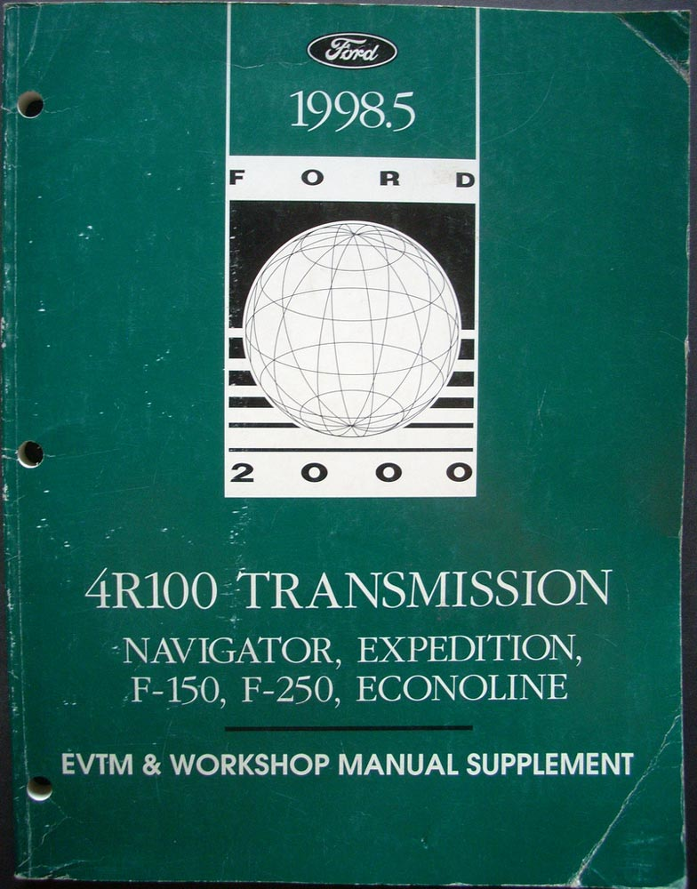1998 ford shop service manual supplement 4r100. Black Bedroom Furniture Sets. Home Design Ideas