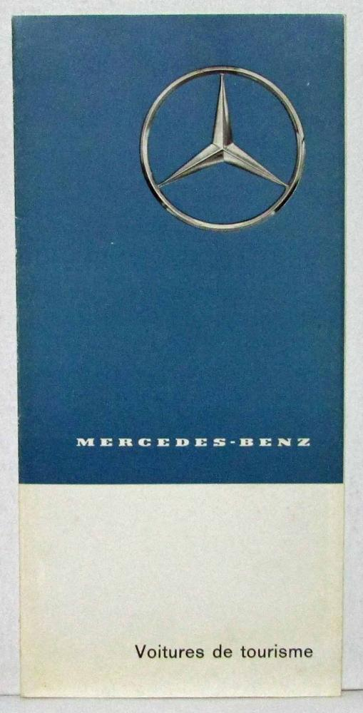 1962 Mercedes Benz Passenger Cars Sales Folder - French Text