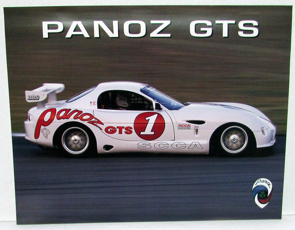2003 Panoz GTS Custom Race Car SCCA Dealer Sales Data Card Handout