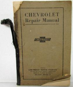 1916 1917 1918 1919 Chevrolet Service Shop Repair Manual Second Edition 1922
