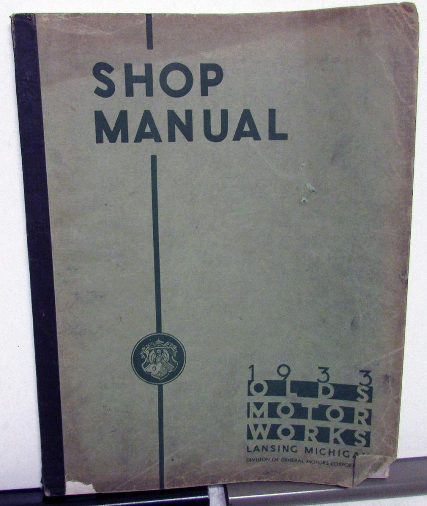 1933 Oldsmobile Dealer Service Shop Manual Repair Six Eight F33 L33 Engine Diagram Orig