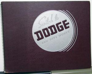 1938 Dodge Dealer Album Features Options Sales Reference Spiral Bound Rare