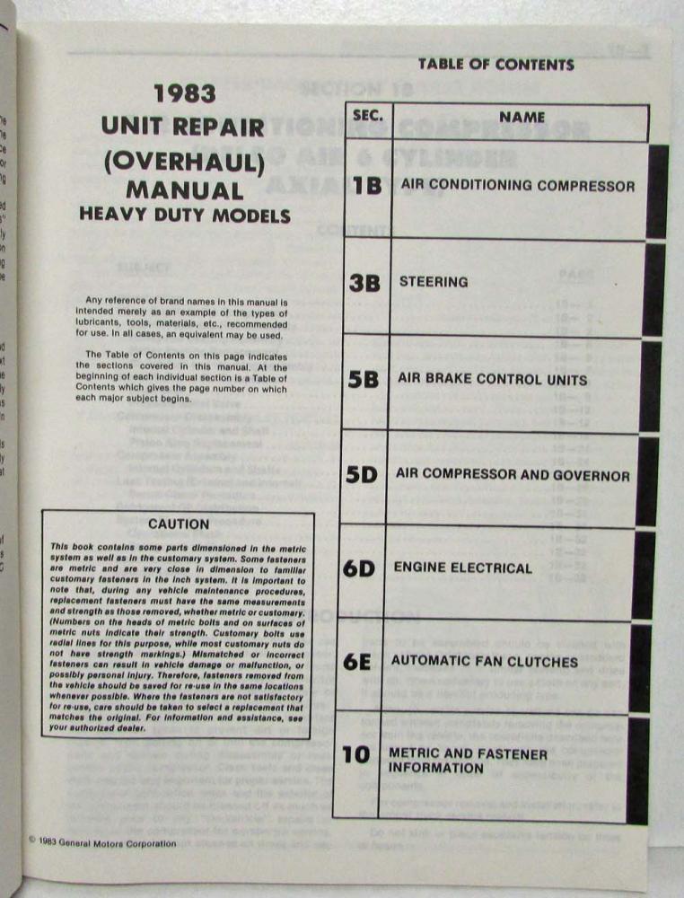 1983 gmc brigadier owners manua