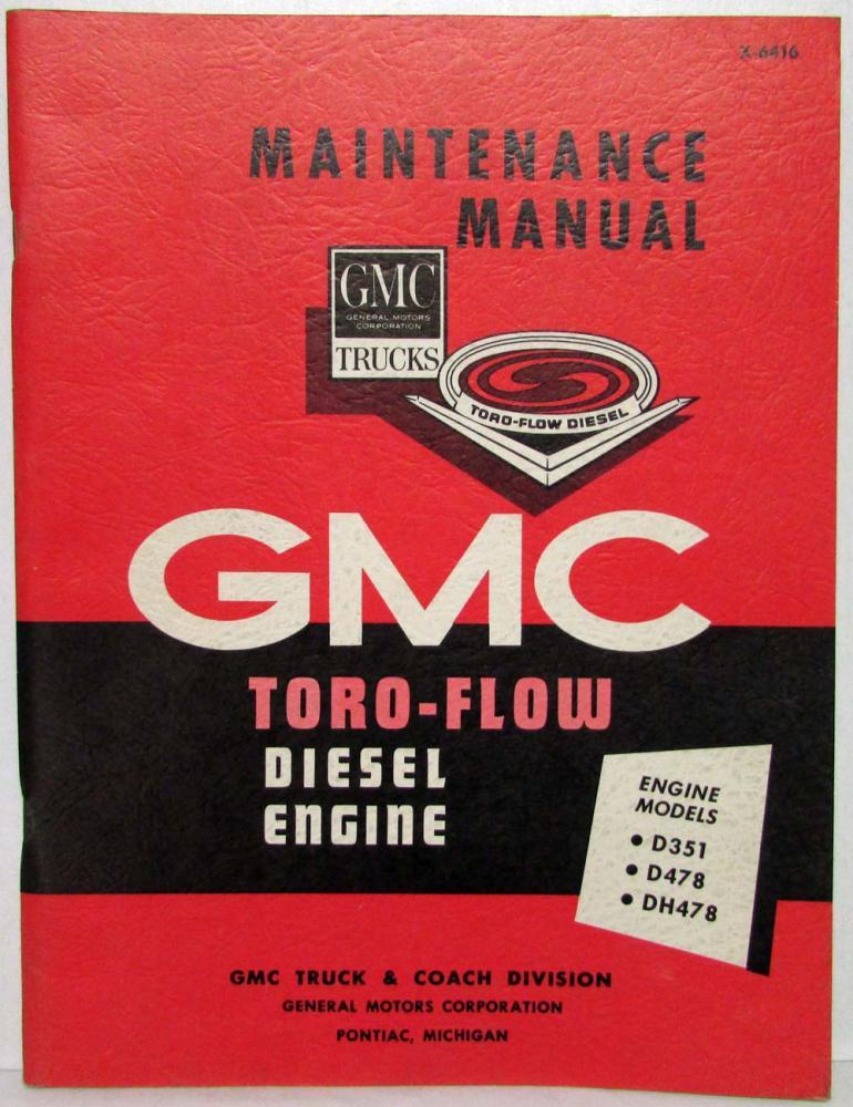 1964 gmc trucks toro flow diesel engine service shop repair rh autopaper com 1964 Ford Shop Manual Diagrams Tractor Shop Manuals