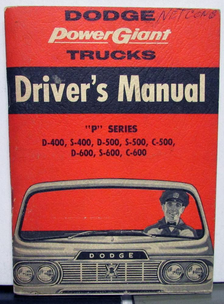 1960 dodge truck owners manual care operation p series d s c 400 rh autopaper com dodge truck service manual dodge truck service manual pdf
