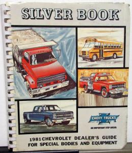 1981 Chevrolet Truck Dealer Silver Book Special Bodies & Equipment Pickup HD Van