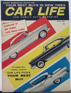 1957 Car Life Plymouth Ford Rambler Chevy Studebaker Comparison Reprint Article