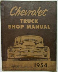 1954 Chevrolet Truck Service Shop Repair Manual Light Medium Heavy Duty