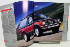 1987 Chevrolet Truck Dealer S-10 Blazer Prestige Over-Size Sales Brochure
