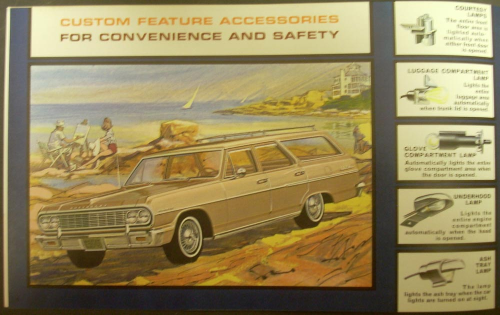 1964 Chevrolet Chevelle Malibu El Camino Wagon Custom Accessories Brochure Orig