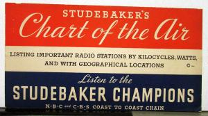 1935 Studebaker Dictator Commander President Chart Of The Air Sales Brochure