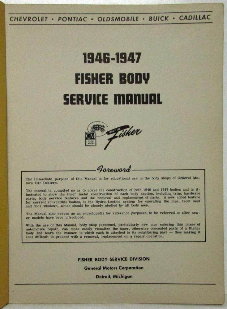 1946 1947 gm cars chevy pontiac olds fisher body construction rh autopaper com Construction Procedure Manual Steel Construction Manual