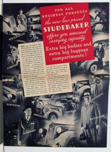 1936 Studebaker Dictator For All Business Purposes Sales Brochure