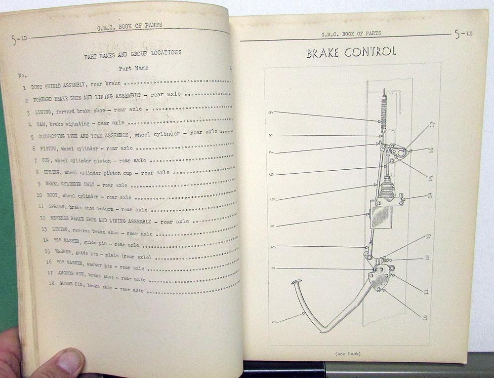 1936 gmc truck dealer parts book catalog t-18 chassis general motors gm  original