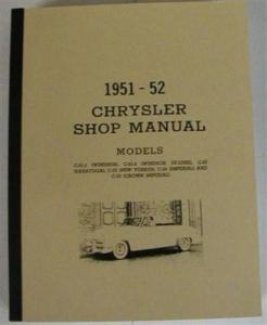 Chrysler 1951 - 1952 Shop Service Manual
