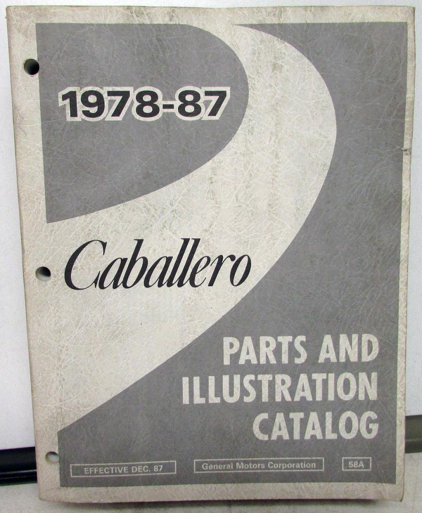 1914 1916 Dodge Brothers Parts Book Original: 1978-1987 GMC Truck Dealer Parts Book Catalog Caballero