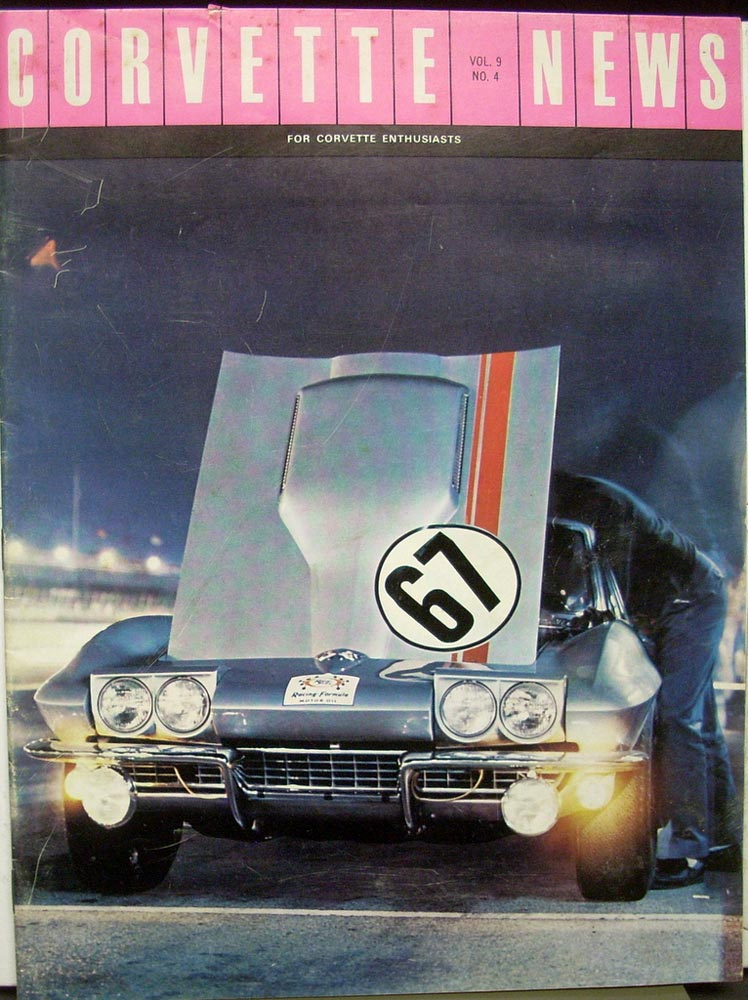 1966 Corvette News  Magazine ORIGINAL Guldstrand  Daytona Continental