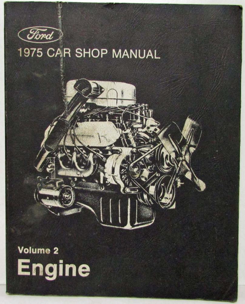 1975 Ford Lincoln Mercury Service Shop Manual Set Mustang Ranchero Cougar  MarkIV