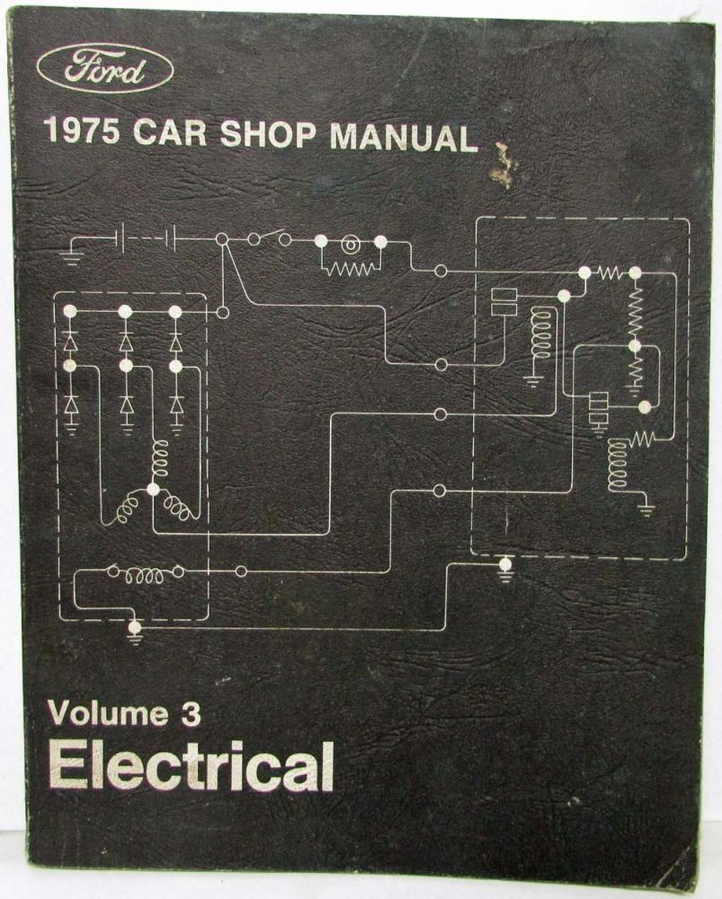 1975 Ford Lincoln Mercury Service Shop Manual Set Mustang Ranchero Wiring Schematic Cougar Markiv