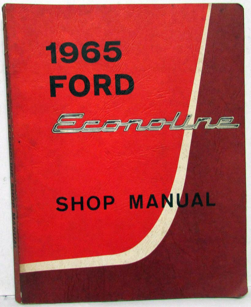 1965 Ford Econoline Shop Service Manual Original Falcon Station Bus Club  Wagon