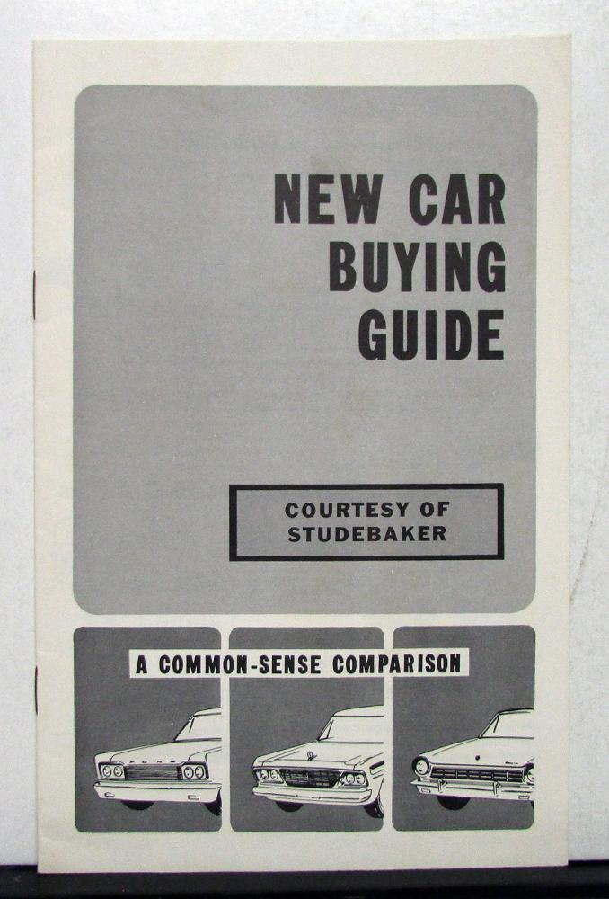 1965 Studebaker Commander New Car Buying Guide Sales Brochure With Comparisons