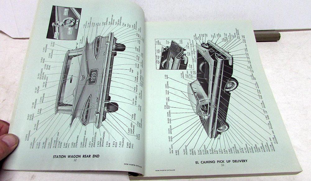 1959 Chevrolet Dealer Parts Accessories Catalog Supplement