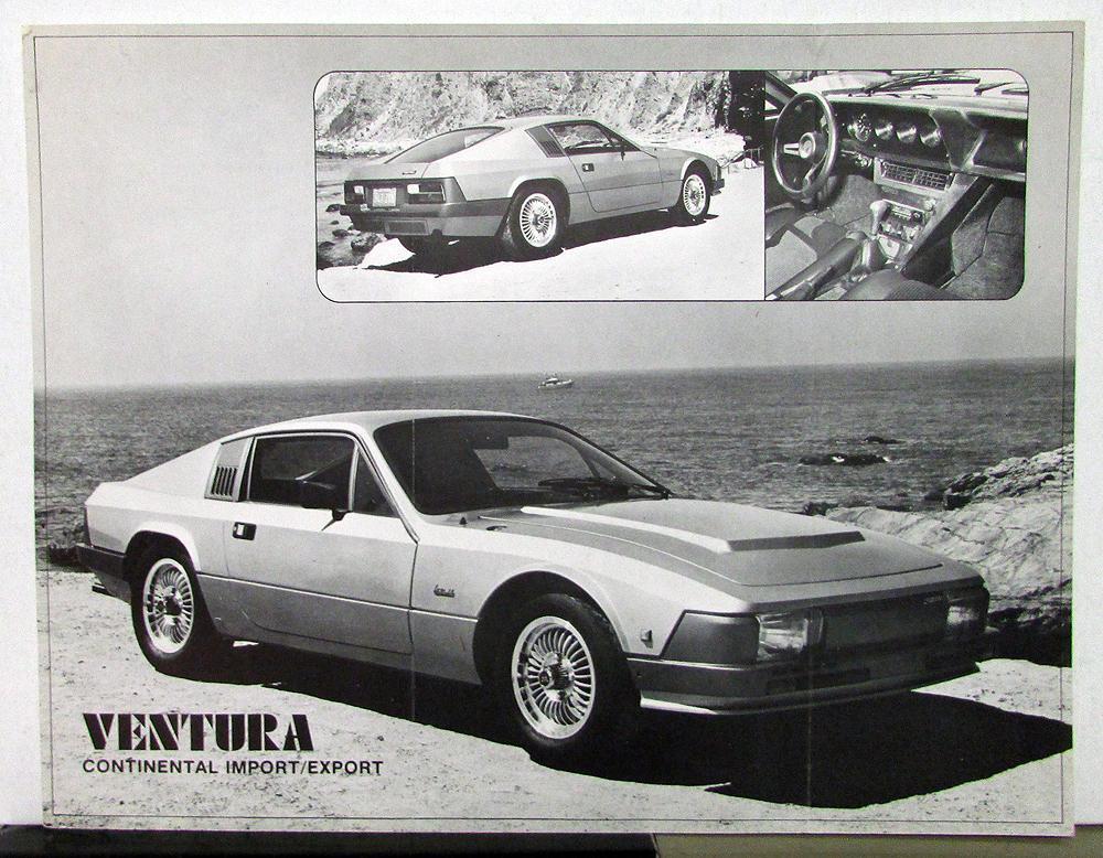 1975 1976 1978 1979 1980 Ventura Continental Kit Car Sales Brochure