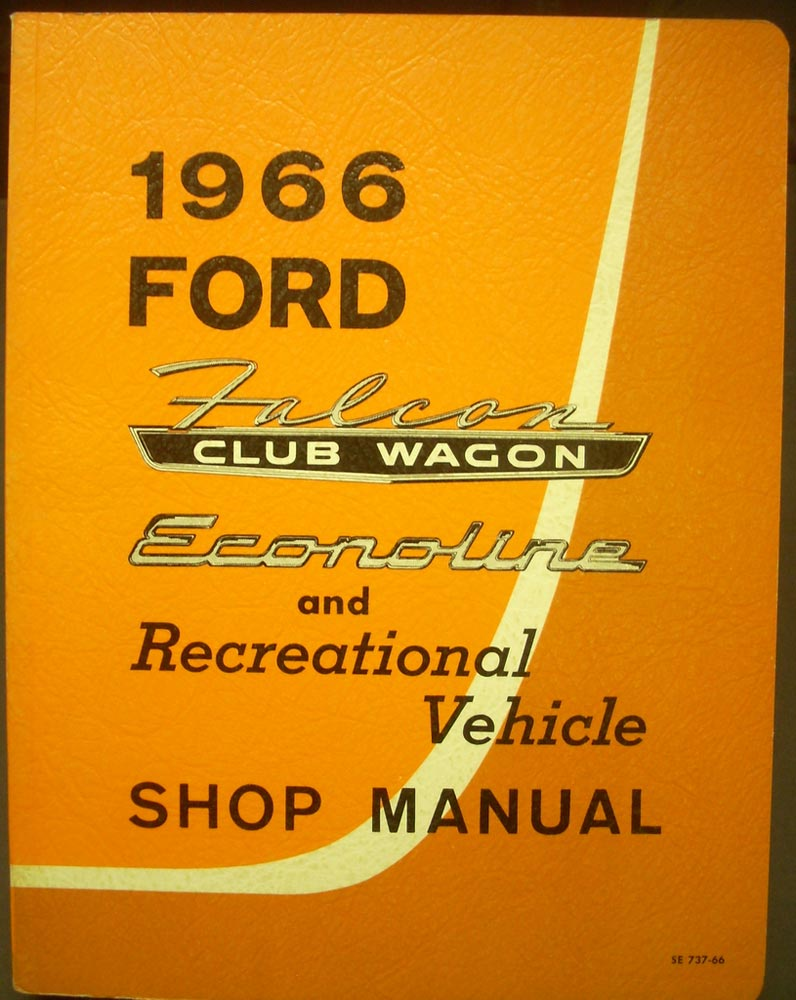 1966 Ford Falcon Club Wagon Econoline RV Shop Service Manual Original  Canadian