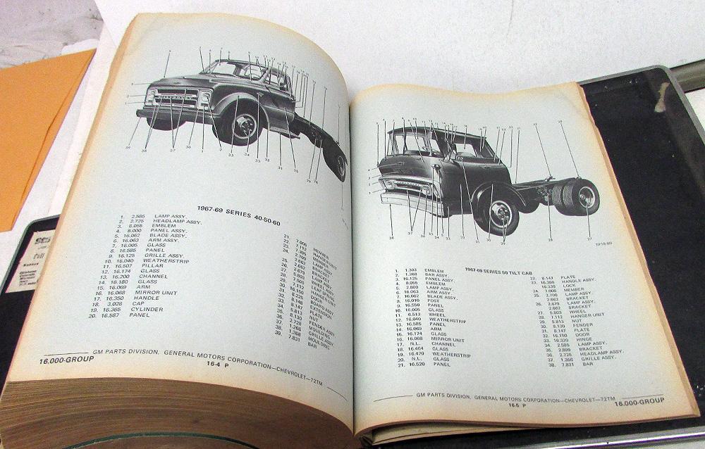 Chevy Truck Parts Catalog >> 1946 1972 Chevrolet Truck Dealer Parts Catalog Book Light H D