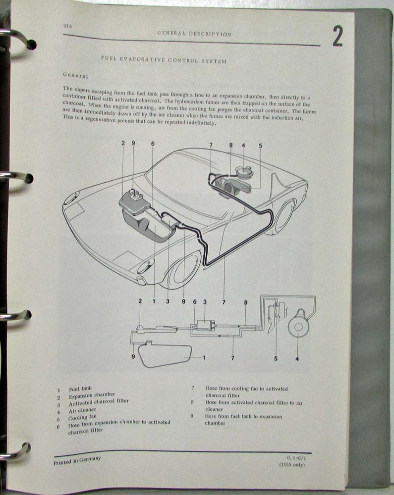 1970 1976 Porsche 914 6 Workshop Manuals 7 Total Type Iv Engine Diagram