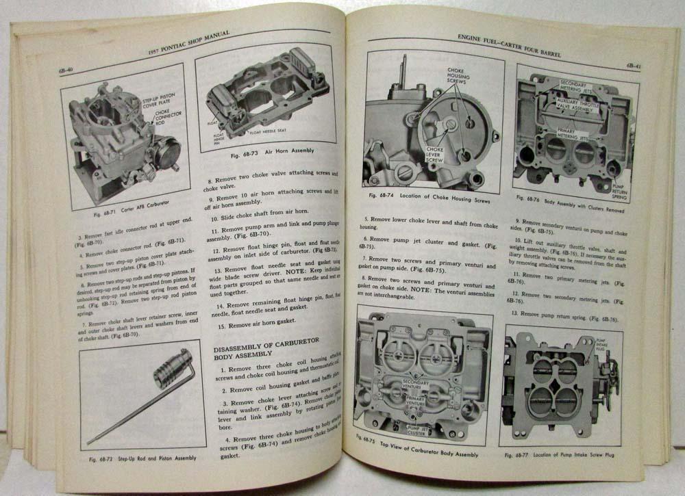 1957 pontiac service shop repair manual deluxe chieftain super chief rh autopaper com 1955 Pontiac 1956 Pontiac