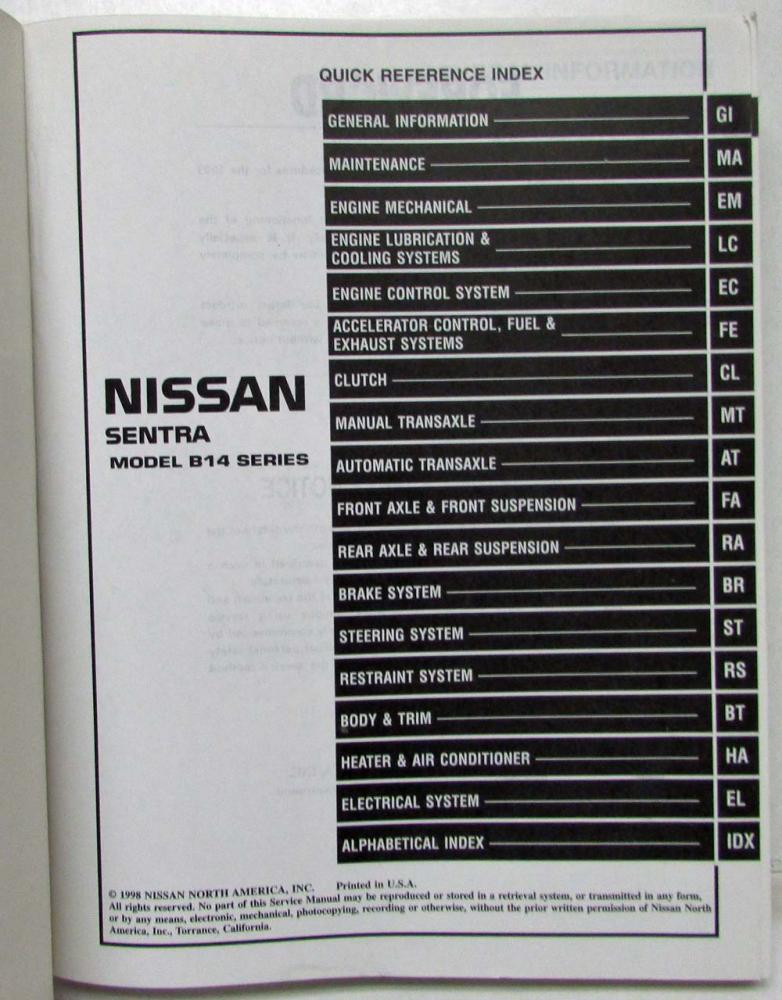 nissan sentra b14 manual best setting instruction guide u2022 rh ourk9 co nissan sentra 1996 repair manual free download 1996 nissan sentra gxe repair manual