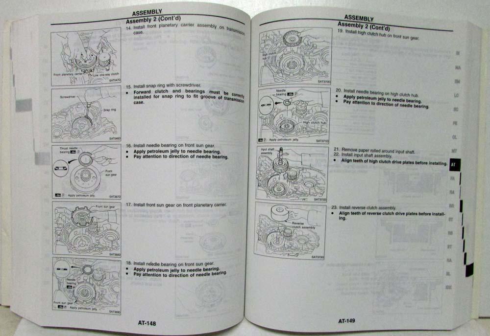 1999 nissan sentra service manual