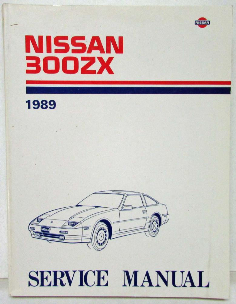 1989 Nissan 300ZX Service Shop Repair Manual Model Z31 Series