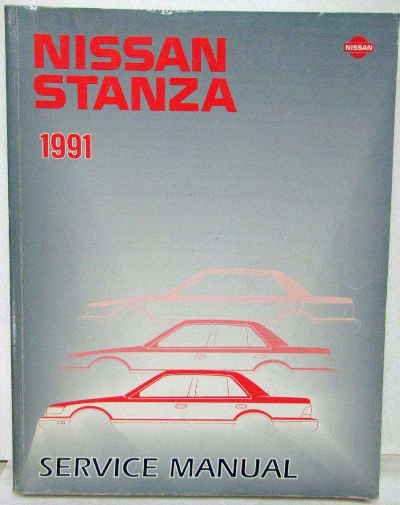 1991 Nissan Stanza Service Shop Repair Manual Model U12 Series Alfa Romeo Manuals