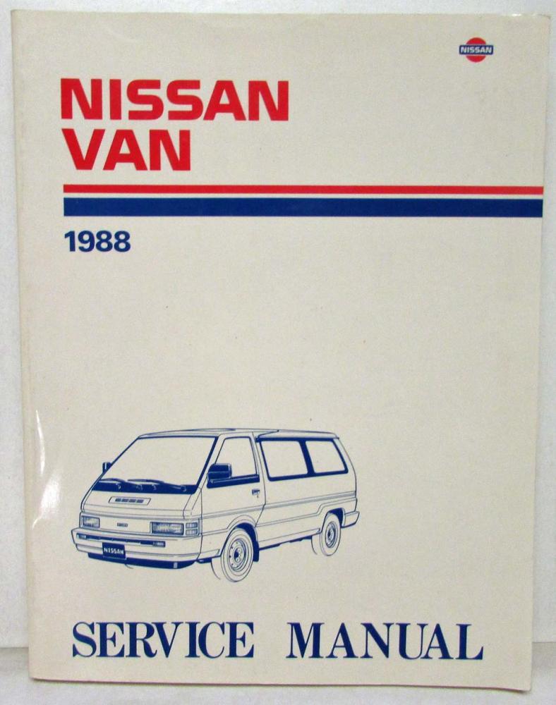 1988 nissan van service shop repair manual model c22 series rh autopaper com Maroon Nissan C22 2014 Nissan Vanette