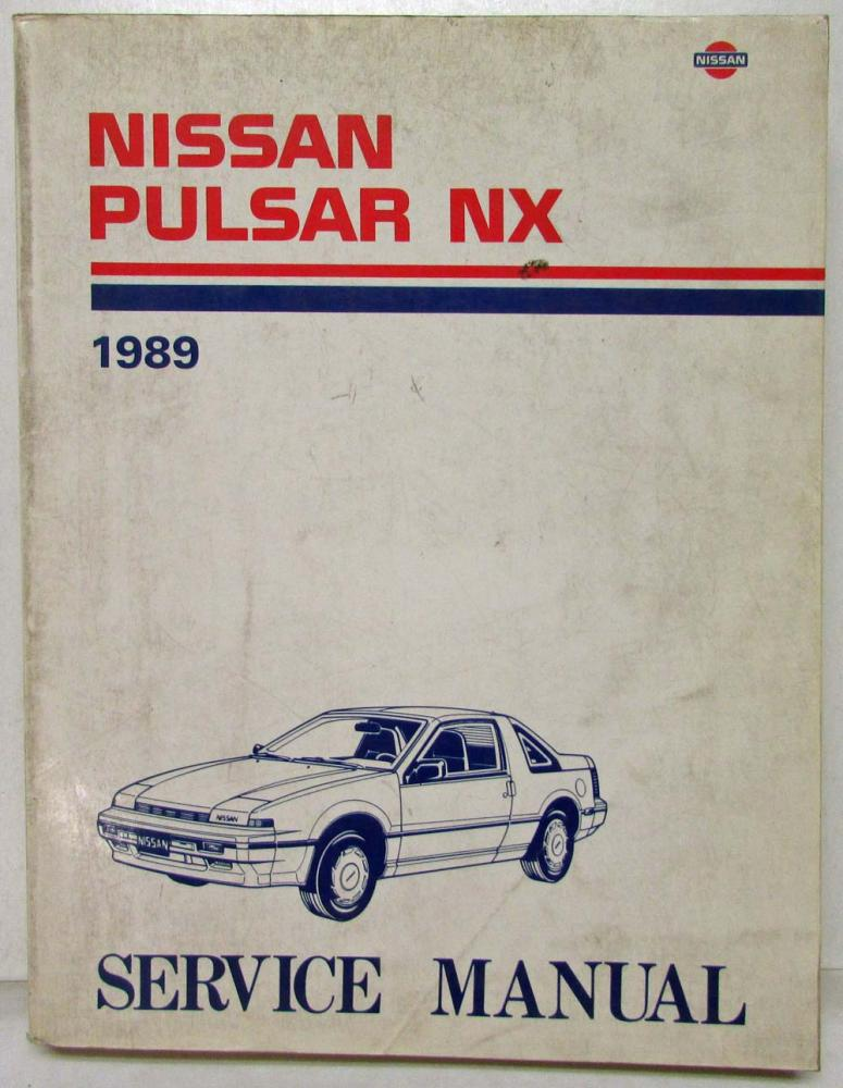 1989 nissan pulsar nx service shop repair manual model n13 series rh autopaper com Tractor Service Manuals Yamaha Service Manuals PDF