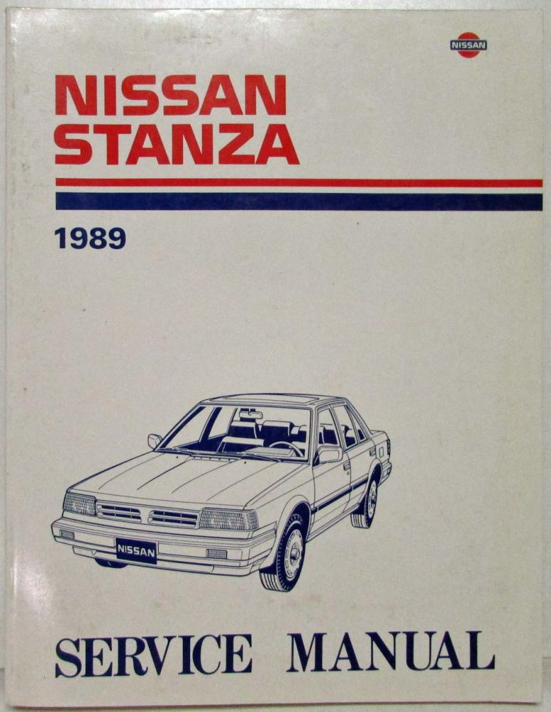 nissan stanza full service repair manual 1989